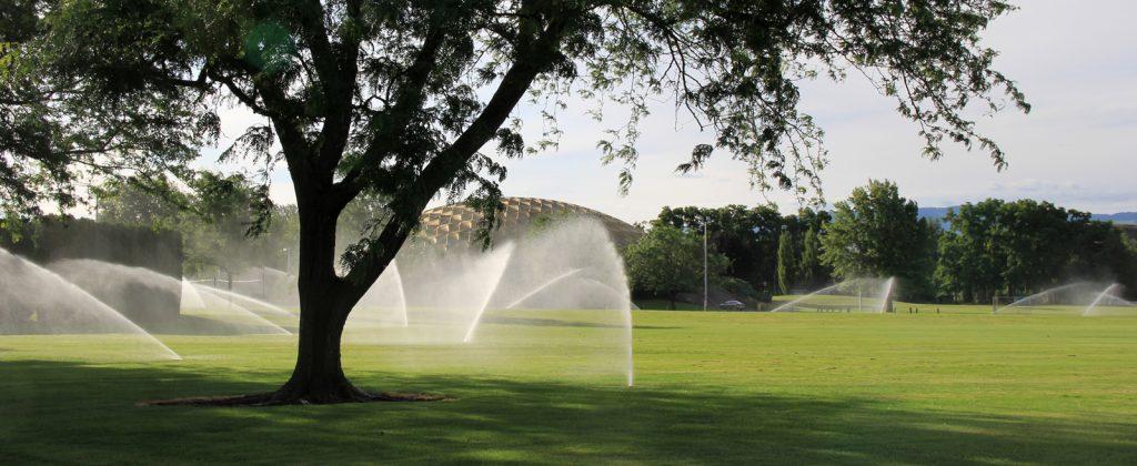 W W C C field irrigation sprinklers on