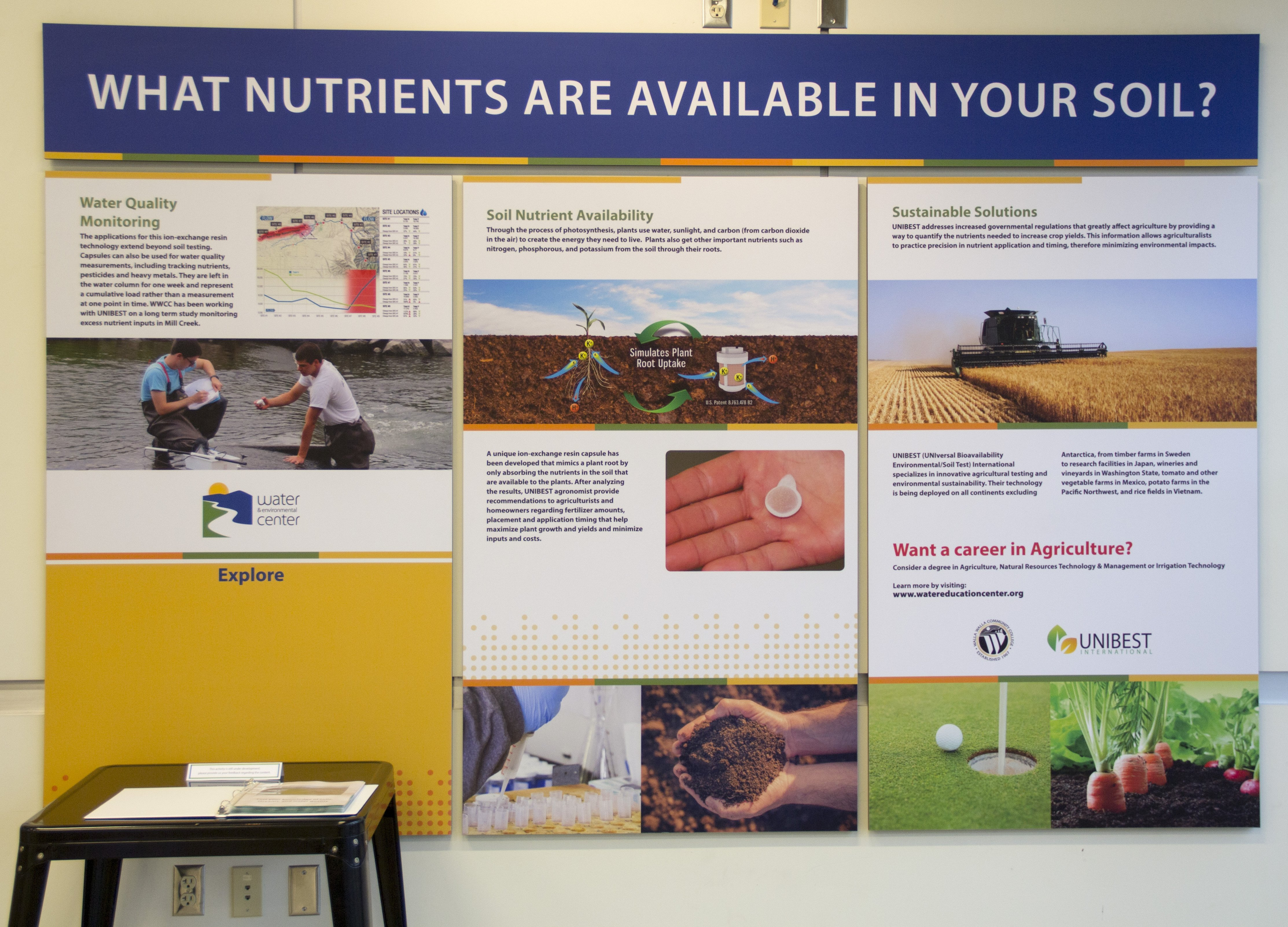 What nutrients are available in your soil? informational station